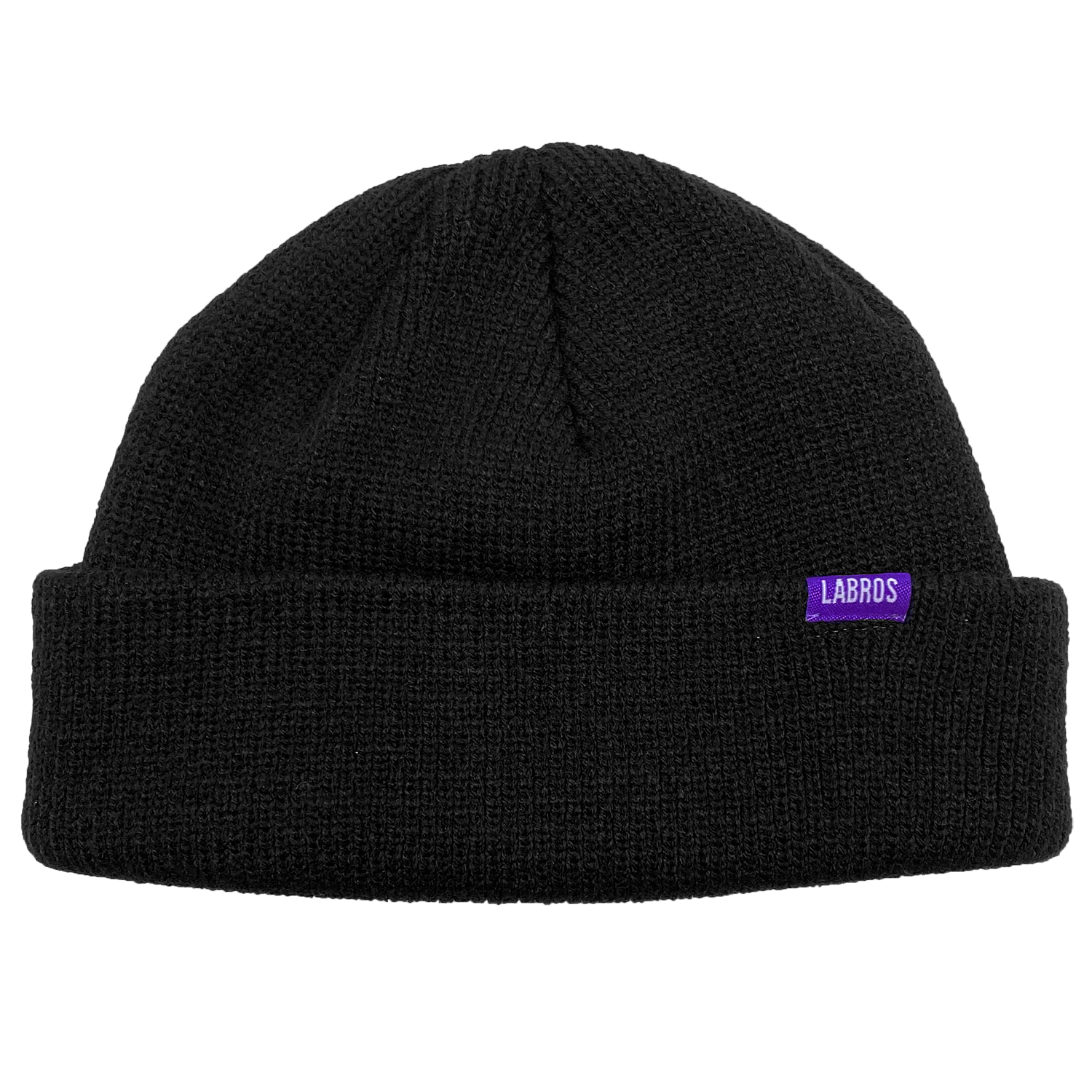 Small Label Short Beanie (Black)