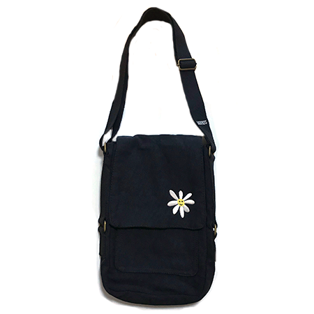 Daisy Canvas Bag (Black)