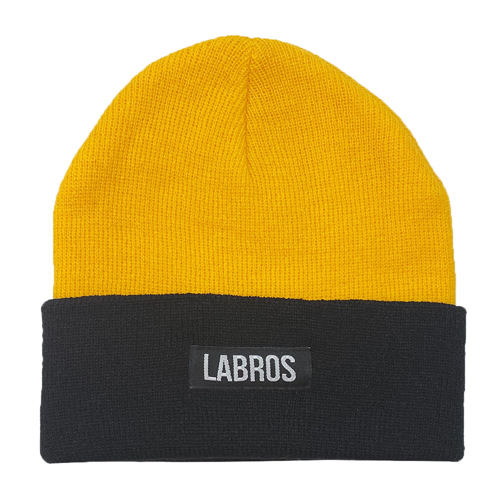 Box Logo Two Tone Beanie (Yellow)