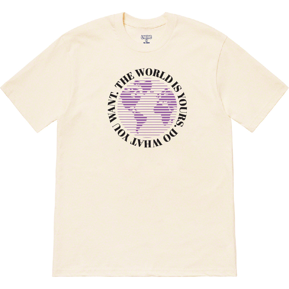 World Tee (Cream)
