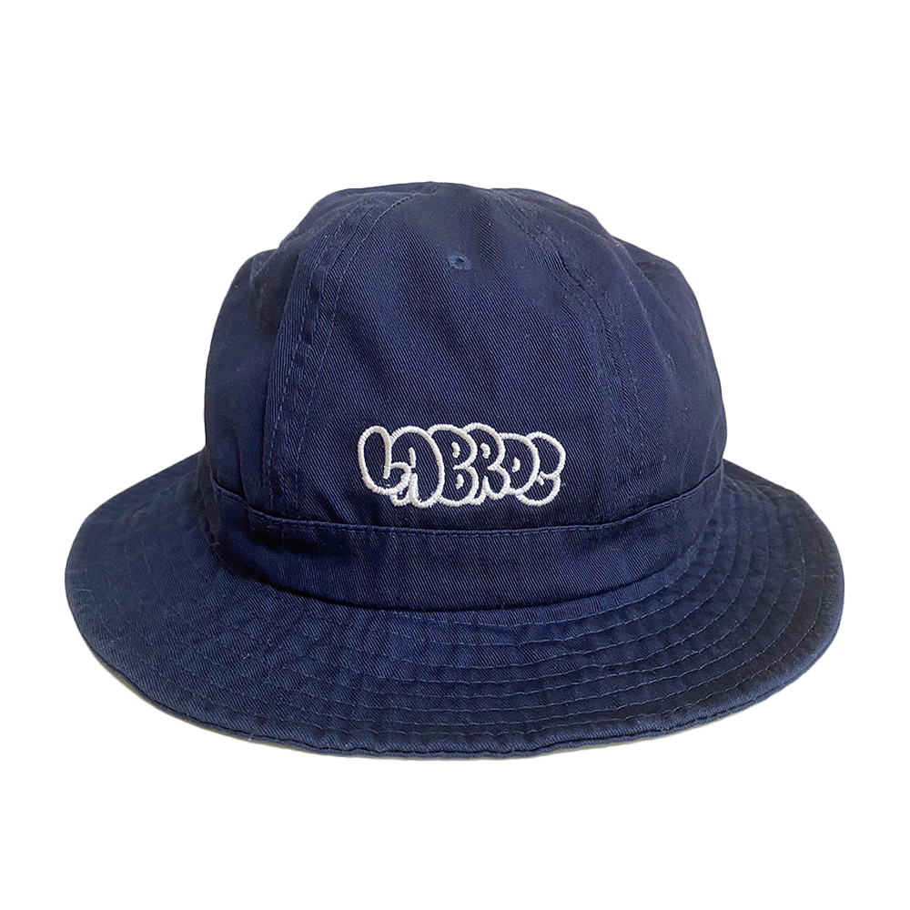 Bubble Logo 6-Panel Bucket Hat (Navy)