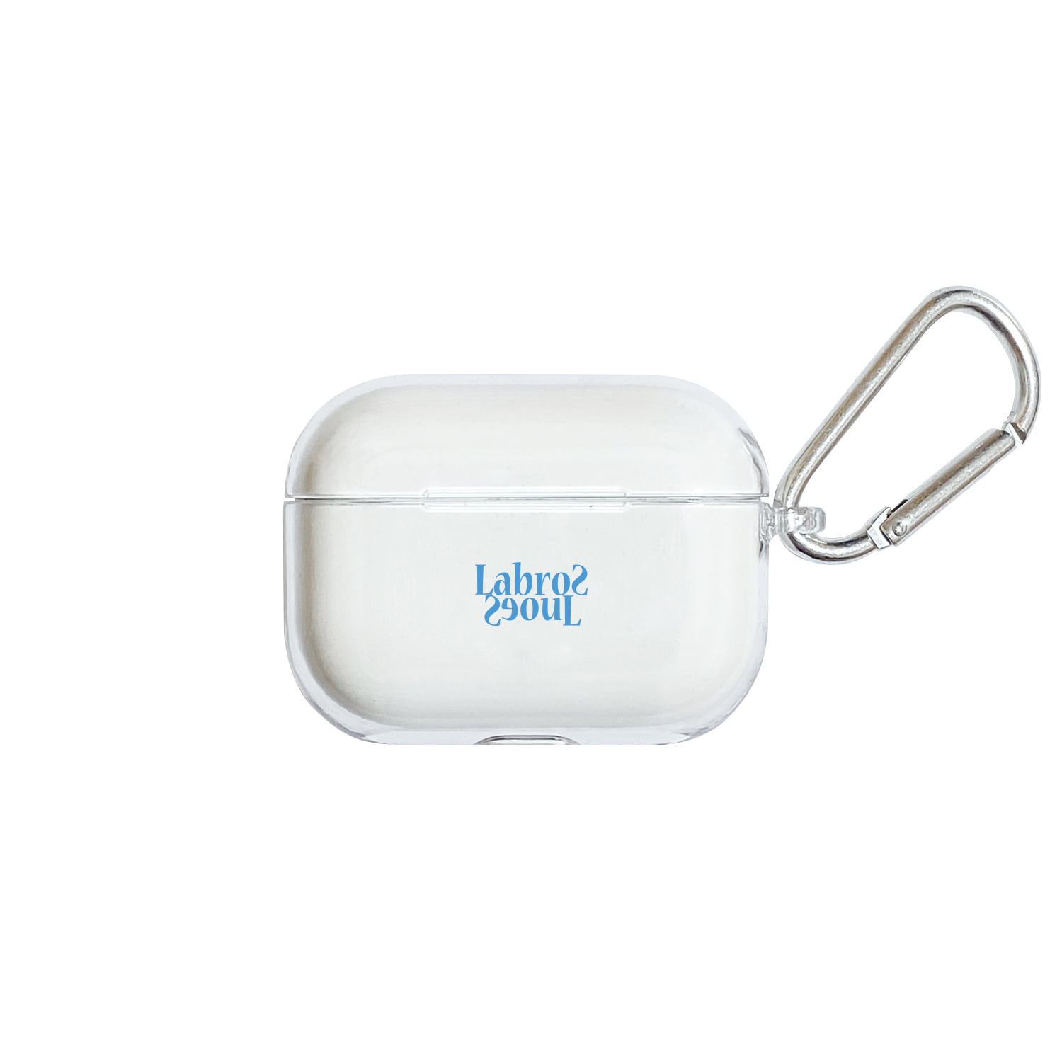 Flip Logo Airpods Pro Hard Case (Clear/Blue)