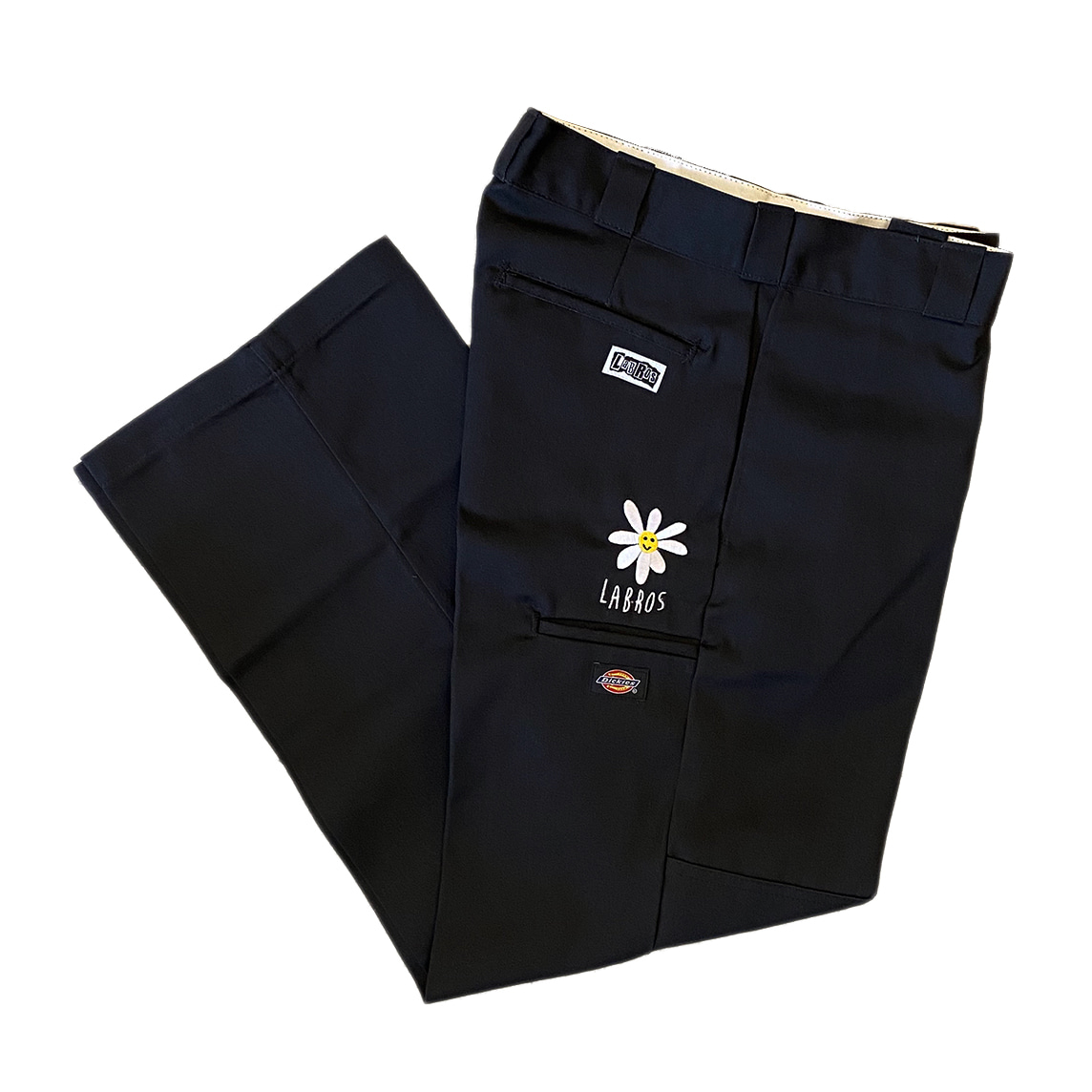 Daisy Dickies Double Knee Work Pants (Black)