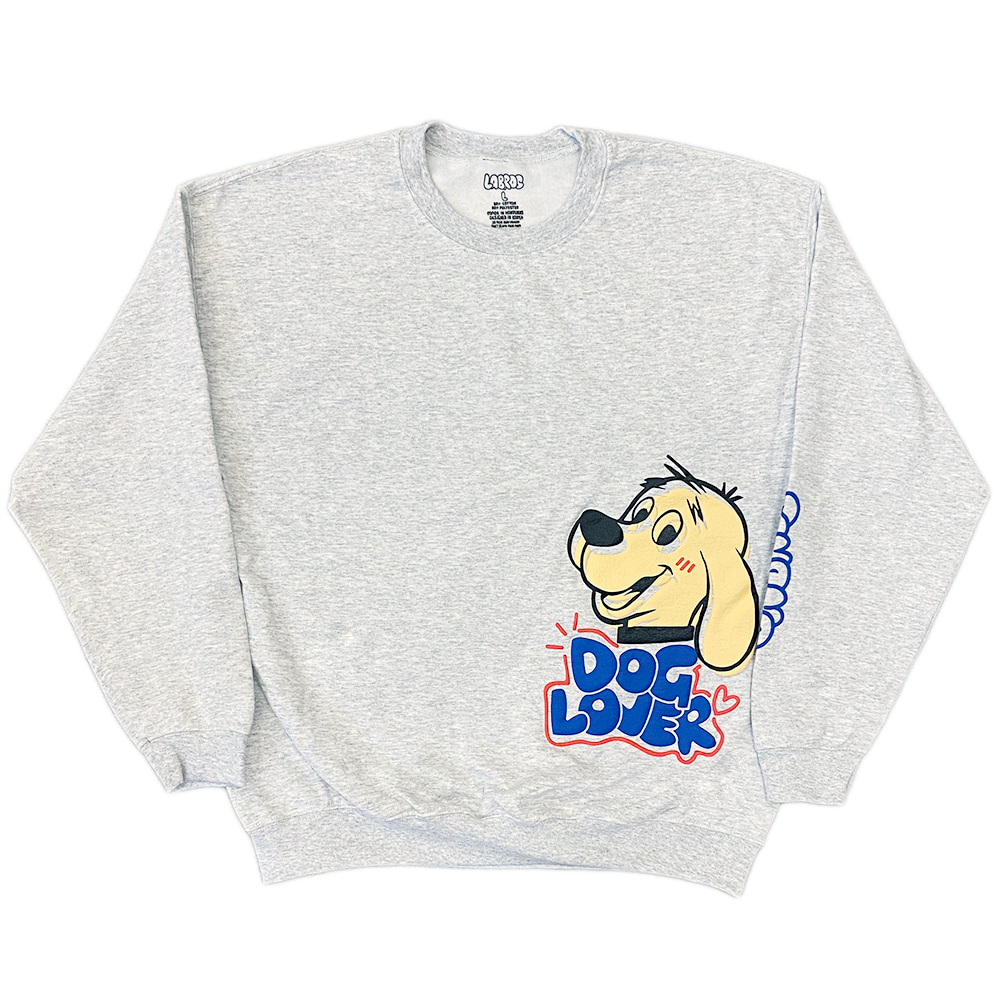 Dog Lover Crewneck (Ash Grey)