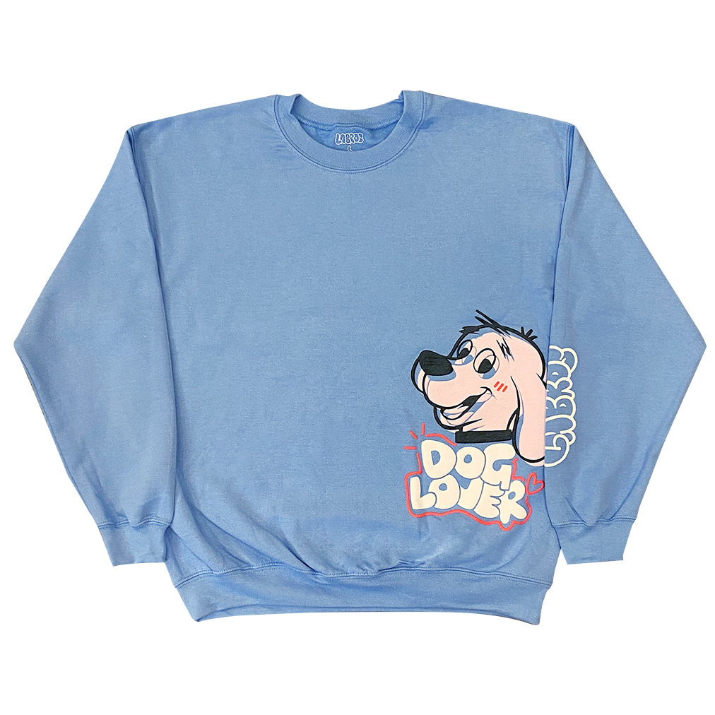 Dog Lover Crewneck (Carolina Blue)