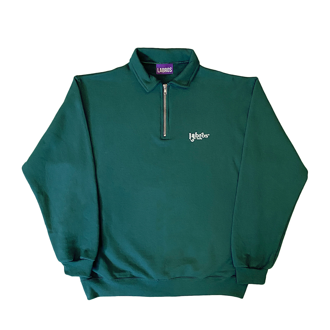 Wonder Logo Quarter Zip Up (Green)