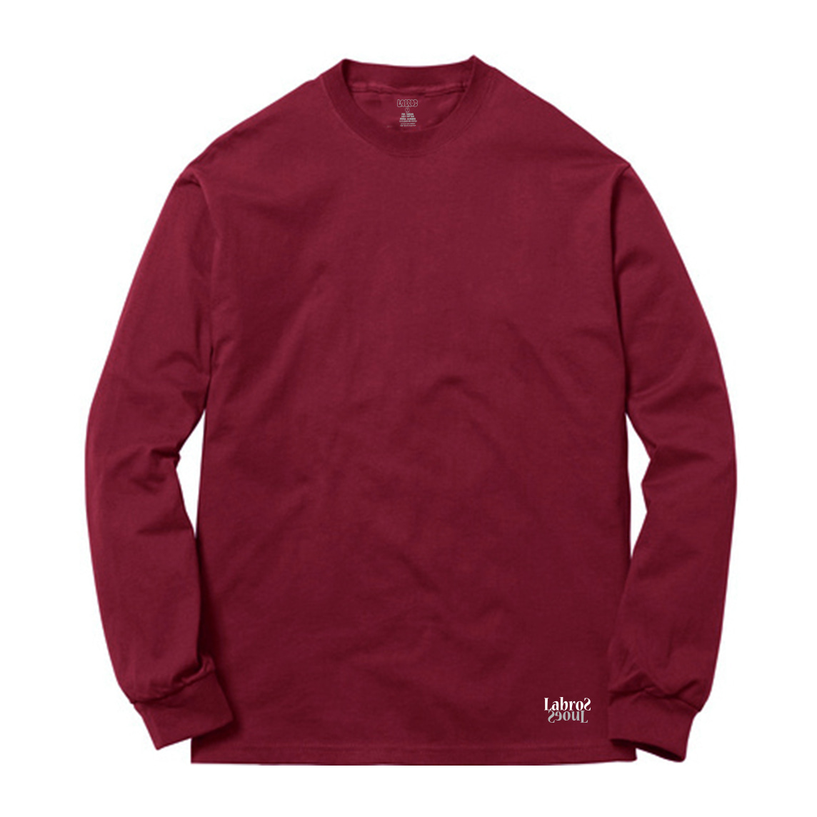 TGL Two-tone L/S Tee (Burgundy)