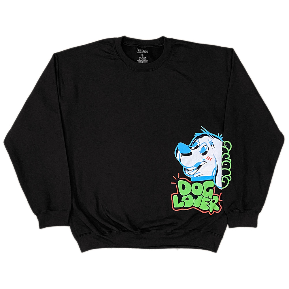 Dog Lover Crewneck (Black)