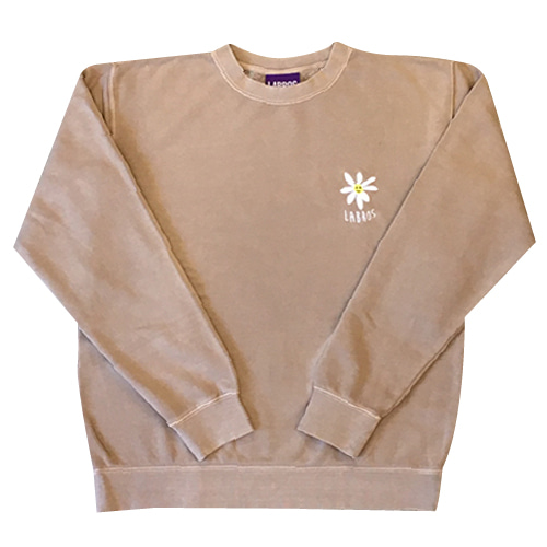 Pigment Dyed Daisy Crewneck (Sand)