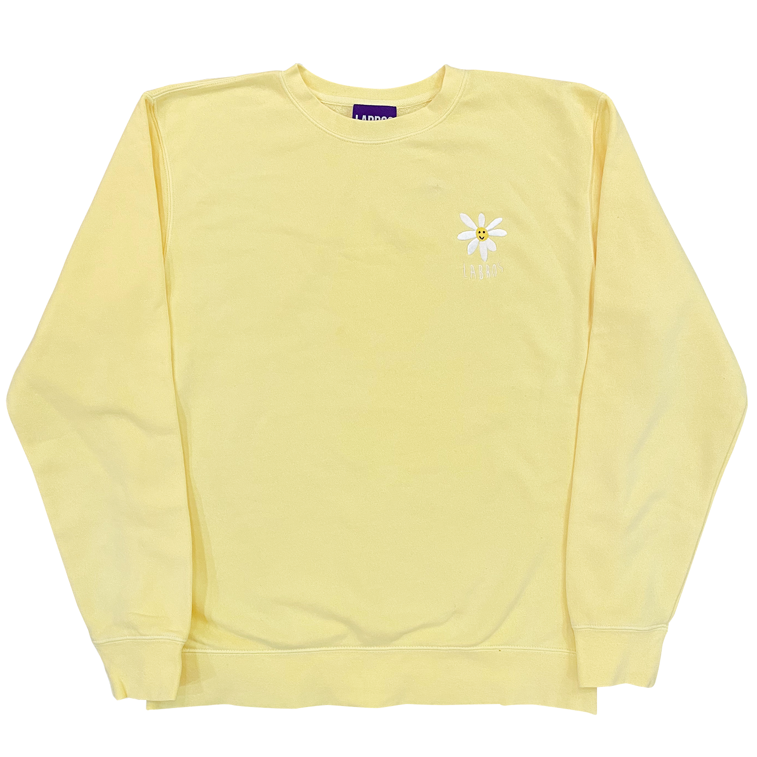 Pigment Dyed Daisy Crewneck (Yellow)