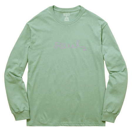 Flower Line LS Tee (Stone Green)