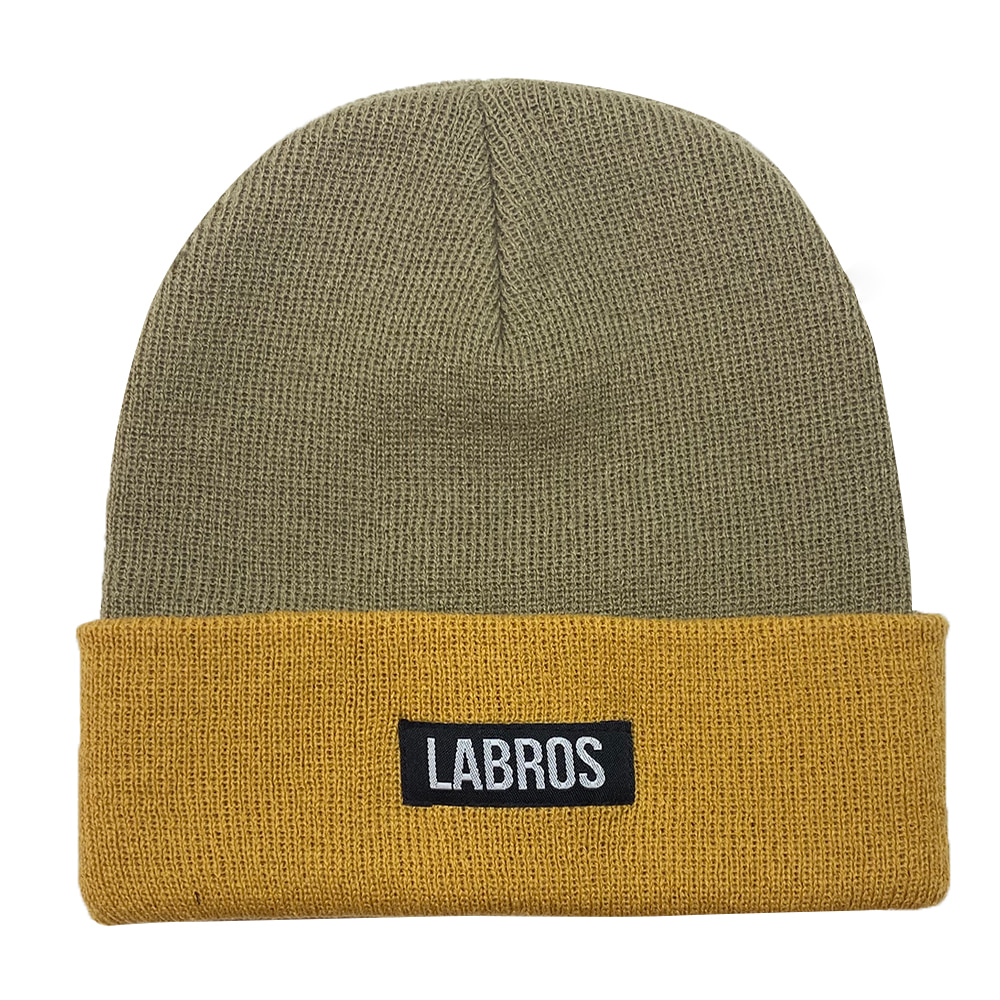 Box Logo Two Tone Beanie (Sand)