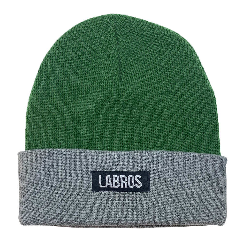 Box Logo Two Tone Beanie (Green)