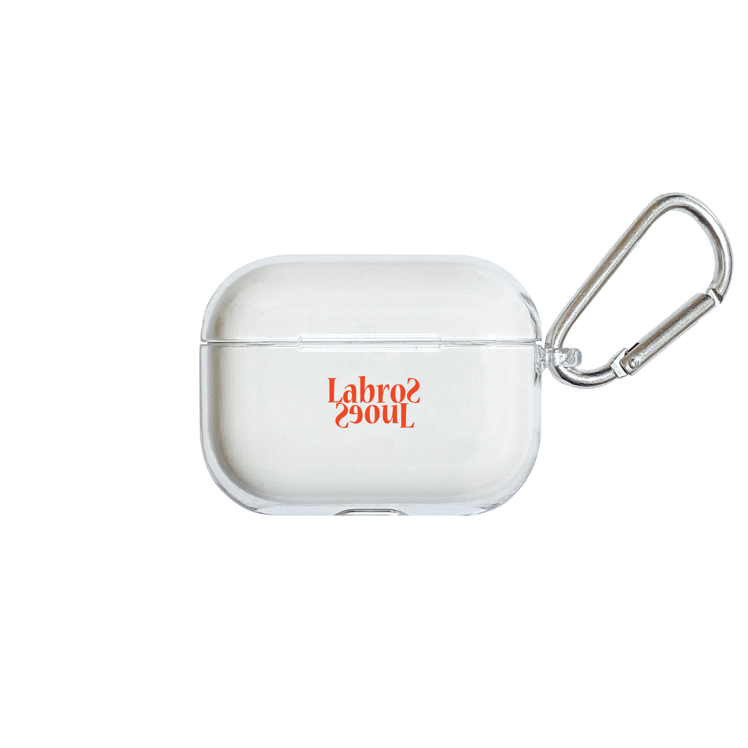 Flip Logo Airpods Pro Hard Case (Clear)