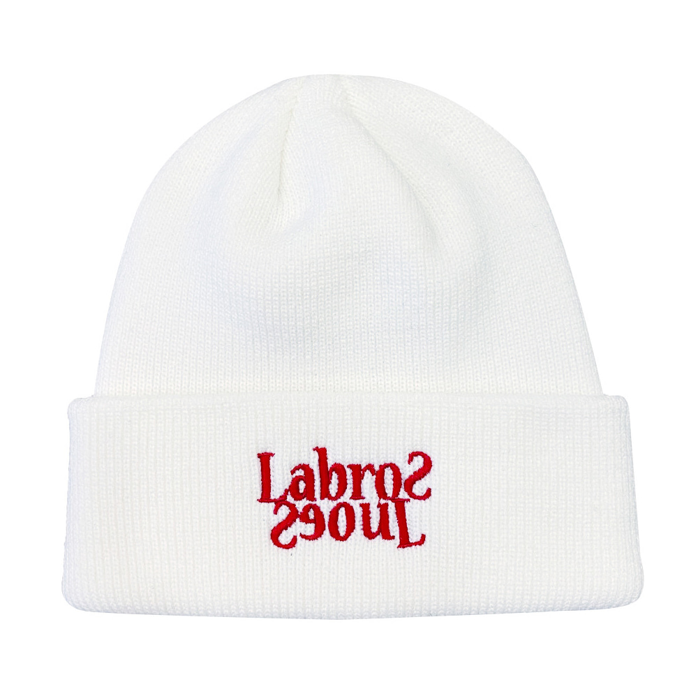 Flip Logo Beanie (White/Red)