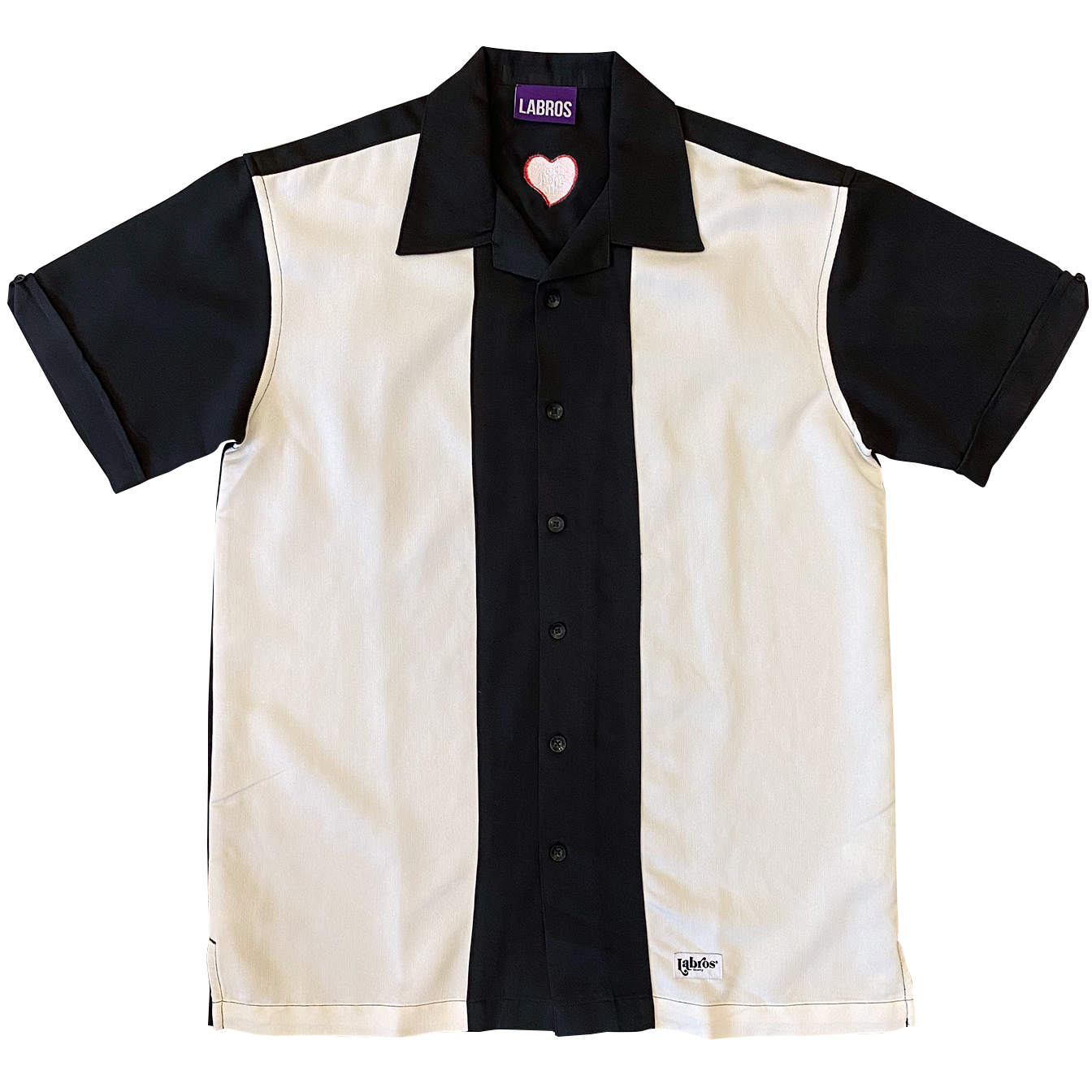 Heart Two Tone Shirt (Black)