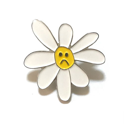 Sad Daisy Pin (White)