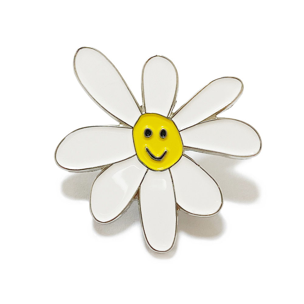Daisy Pin (White)