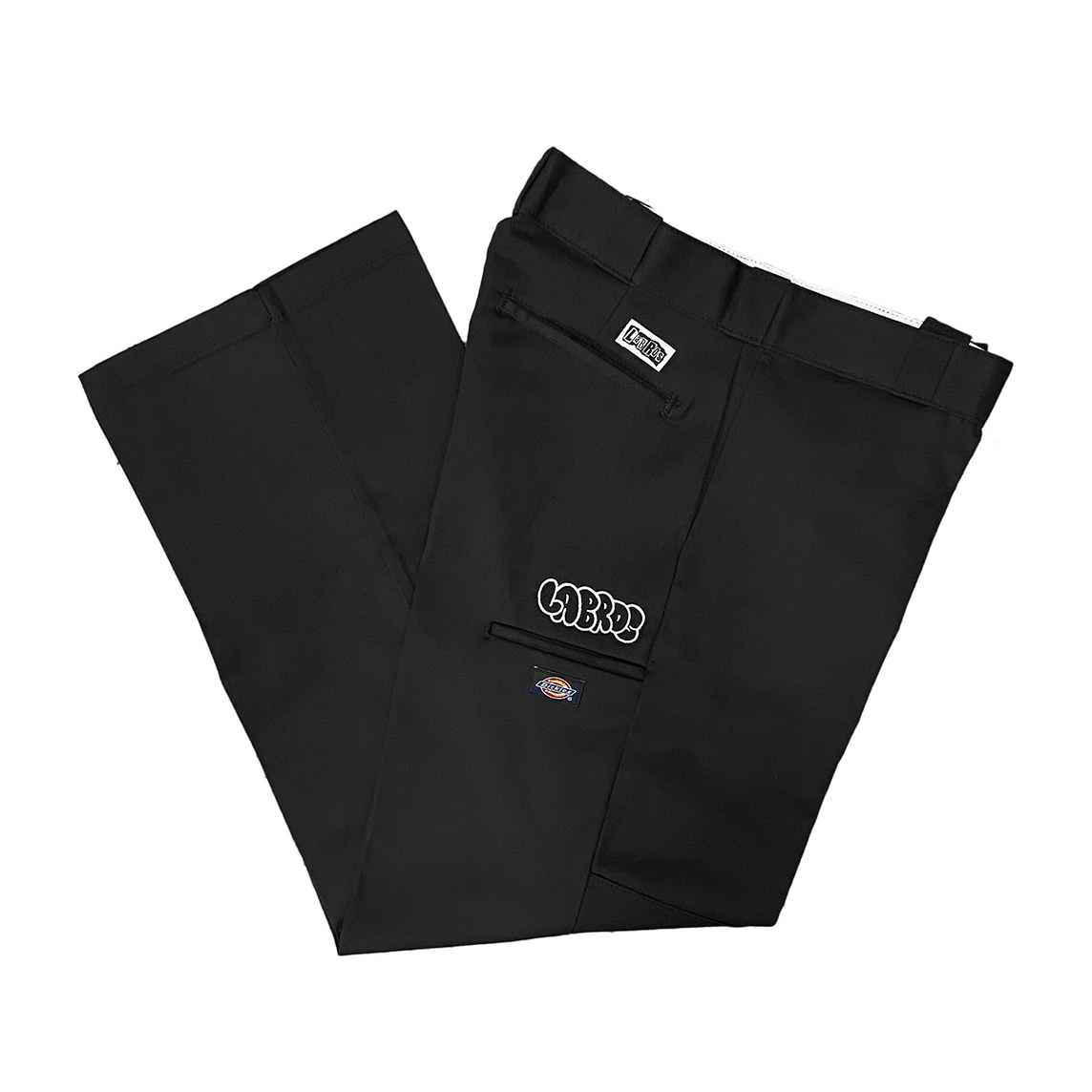 Bubble Logo Dickies Double Knee Work Pants (Black)