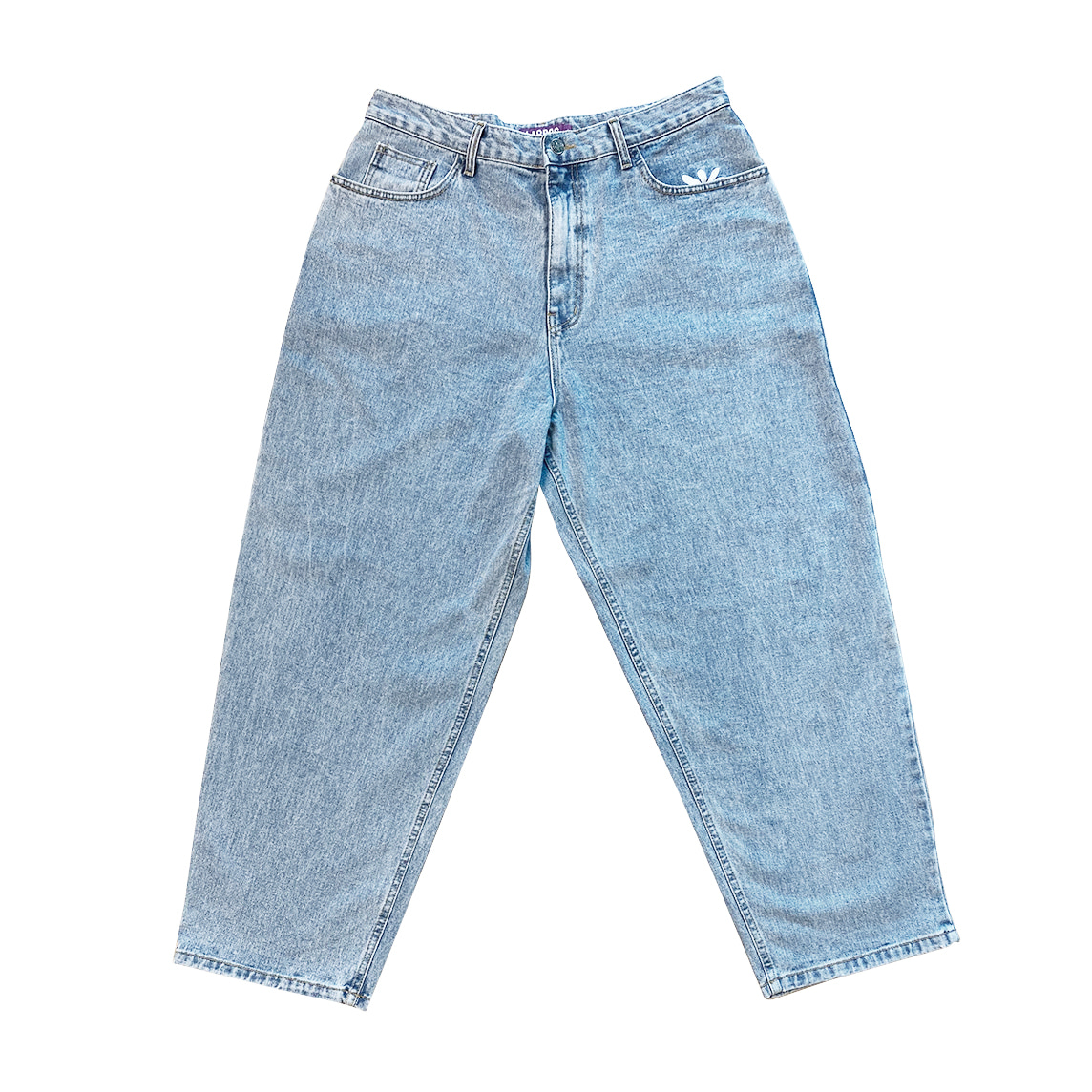 Stone Washed Smart Daisy Jeans (Light Indigo)