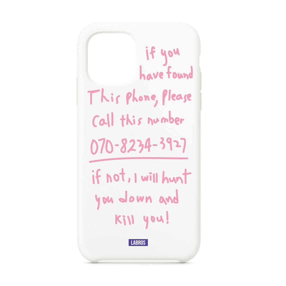 Kill You i Phone 11 Pro Case (White/ Pink)