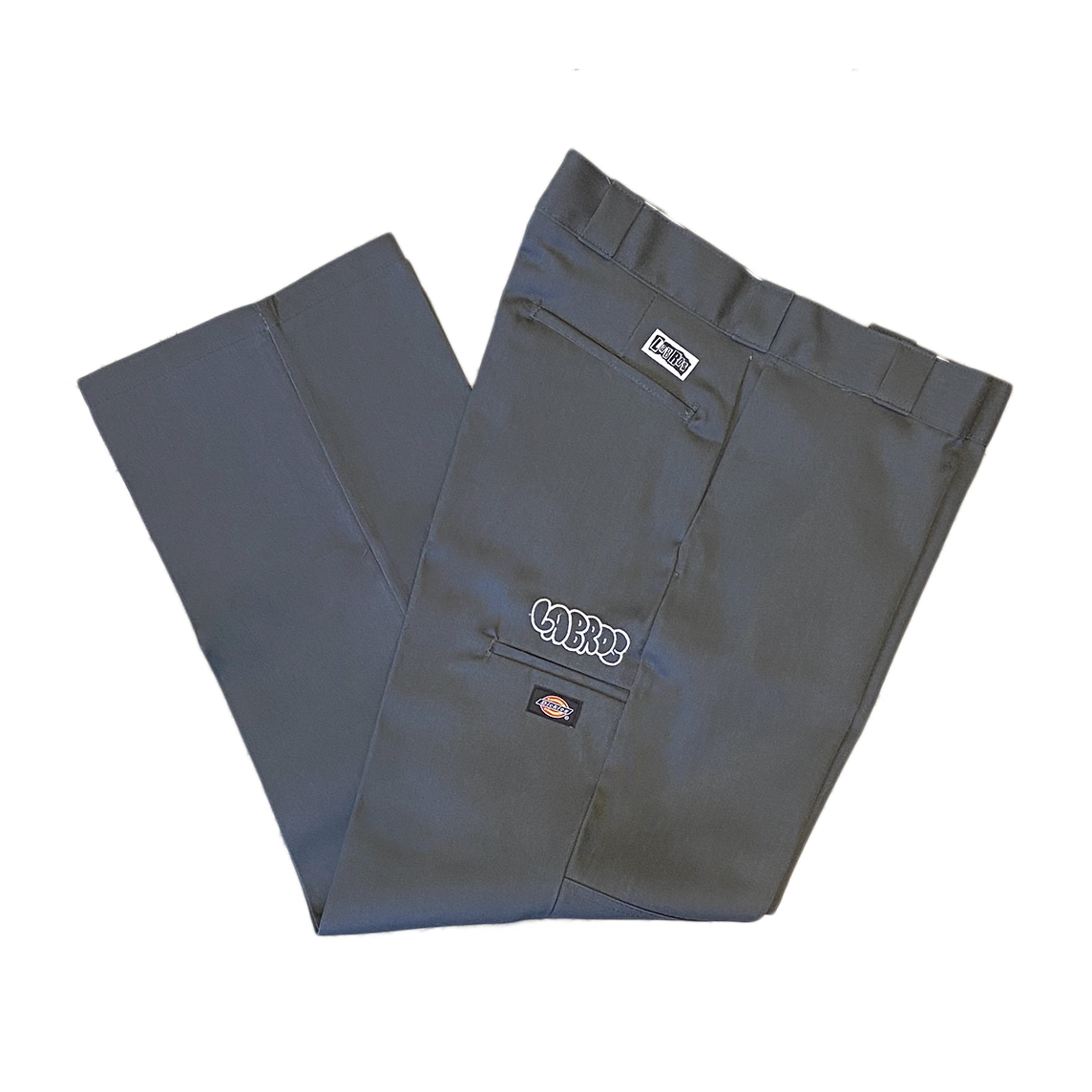 Bubble Logo Dickies Double Knee Work Pants (Charcoal)