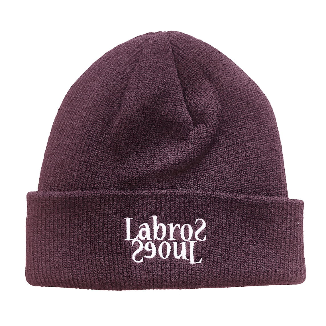 Flip Logo Beanie (Dark Purple/ White)