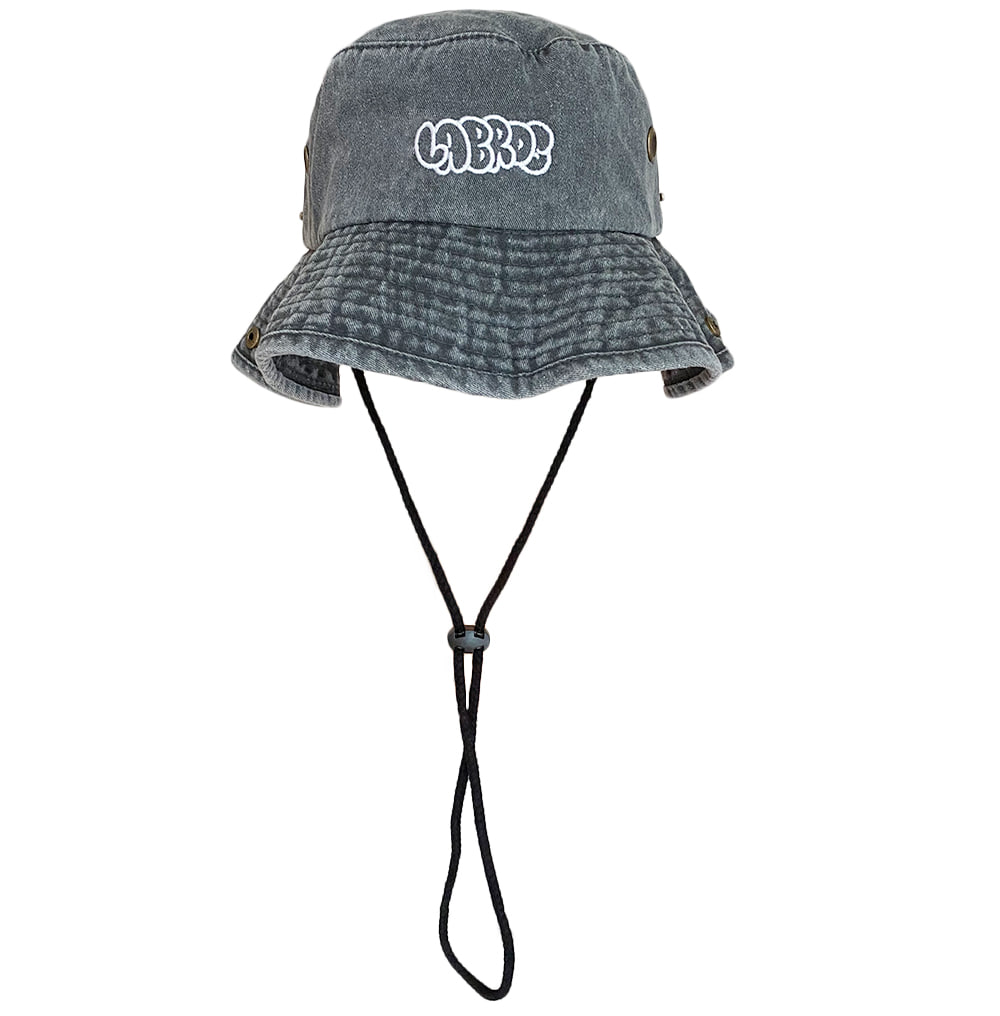 Bubble Logo Safari Hat (Black)