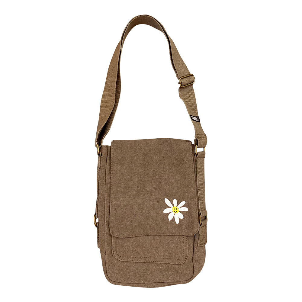 Daisy Canvas Bag (Brown)